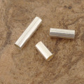 Sterling Silver Riveting Tubes, left to right, 3mm x 10mm; 3mm x 6mm; 3mm x 8mm