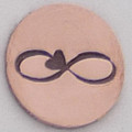 Infinity with Heart Metal Stamp Sample