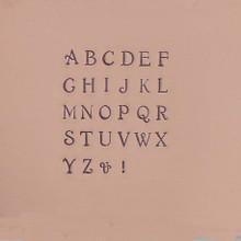 Uppercase Circinus metal Stamps
