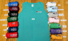 Here is a swatch of ALL 15 colors of the Henley's. These are available in SMALL thru 2XL. NOT AVAILABLE in 3XL (sorry)