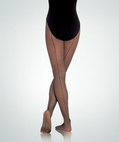 Fishnet Footed Tights with Seam