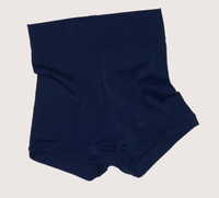 Navy High Waisted Booty Shorts