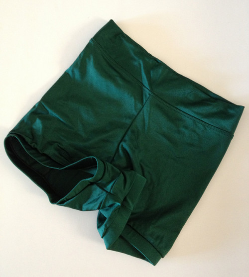 Green High Waisted Booty Shorts