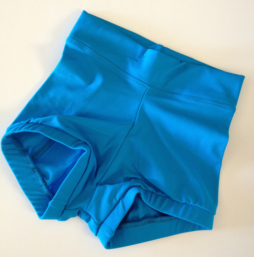 Turquoise High Waisted Booty Shorts