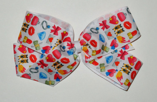 Small Pink Emoticon Bow