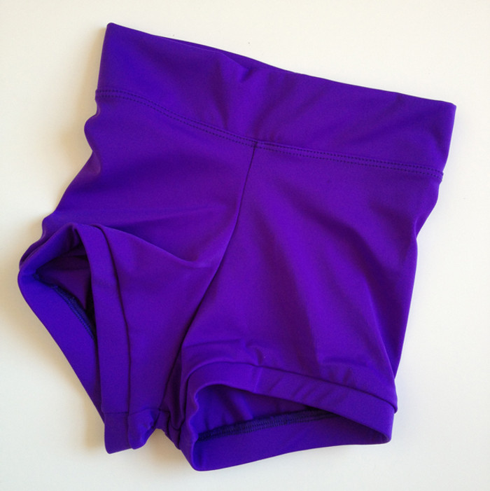 Purple High Waisted Booty Shorts - Sadie Jane Dancewear