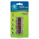 Premier Busy Buddy Rawhide Rings Refill 16 Pack Small Brown