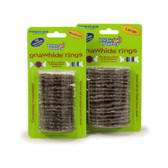 Premier Busy Buddy Gnawhide Rings - Cornstarch 16 pack Large Brown