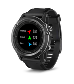 Garmin Fenix 3 Watch, Gray with Black Band