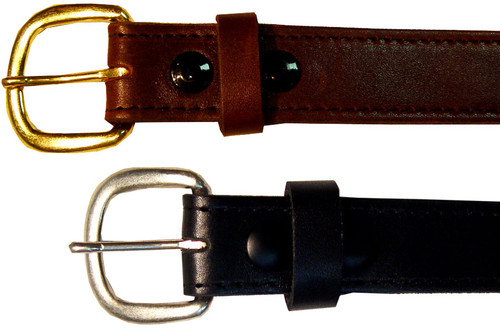 Marc Wolf 201 Leather Belt, Black or Brown, Sizes 34-72