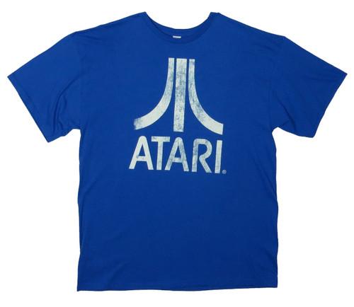 Atari Distressed Royal Blue Tee LT, XL, XLT, 2X, 2XT, 3X, 3XT