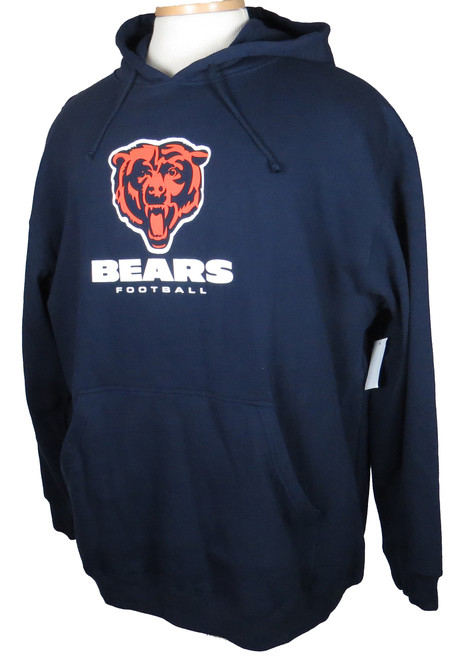 Majestic Chicago Bears Navy Blue Hoodie 4X, 5X