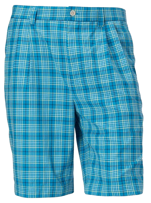 Cutter & Buck McKinley Blue Plaid Pleated Shorts 44, 46, 48, 50, 52, 54