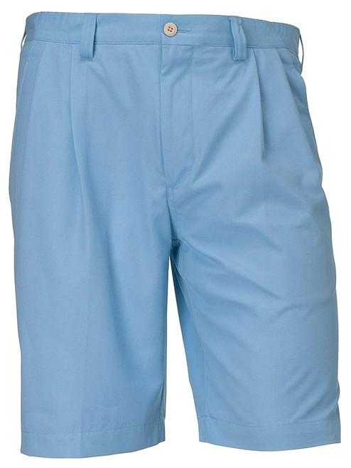 Cutter & Buck Orin Fine Twill Pleated Light Blue Shorts 50, 52, 56