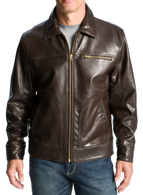 Cutter & Buck Wilridge Lambskin Brown Bomber XTL, 2X