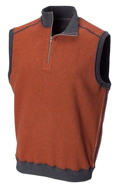 Cutter & Buck Essex Reversible Half Zip Vest 2 Colors 2X, 2XT, 3X, 3XT, 4X, 4XT, 5X