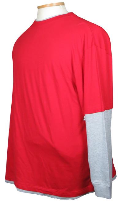 Faux Long Sleeve Tee Shirt 6 Colors 2X, 2XT, 3X, 4X, 4XT, 5X, 5XT, 6X