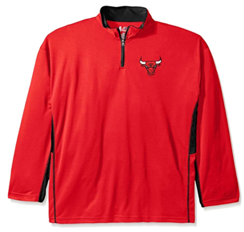 Majestic Chicago Bulls 1/4 Zip Fleece 3XT