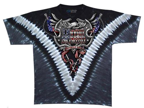 Liquid Blue Lynyrd Skynyrd Southern Rock Shield Tie Dye Tee LT, XL, 2X, 3X, 4X, 5X, 6X, 7X, 8X