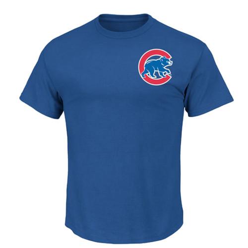 Majestic Chicago Cubs Logo Tee LT, XLT, 2X, 2XT, 3XT, 4XT, 5X, 5XT, 6X
