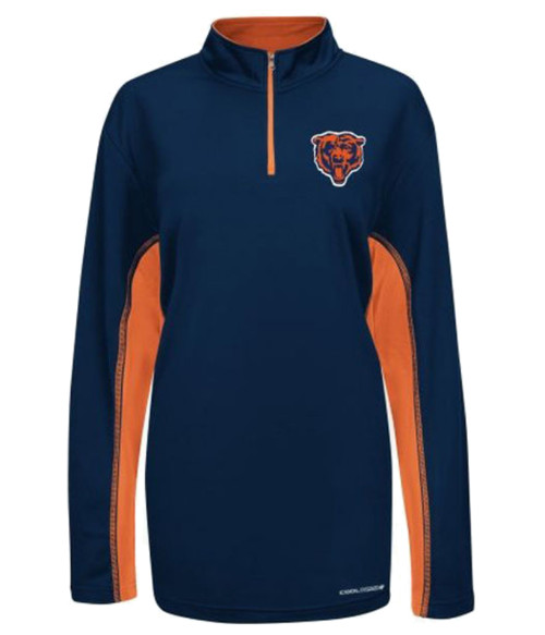 Majestic Chicago Bears Navy Cool Base 1/4 Zip Jacket 2X, 2XT, 3X, 3XT, 4X, 4XT, 5X, 5XT, 6X