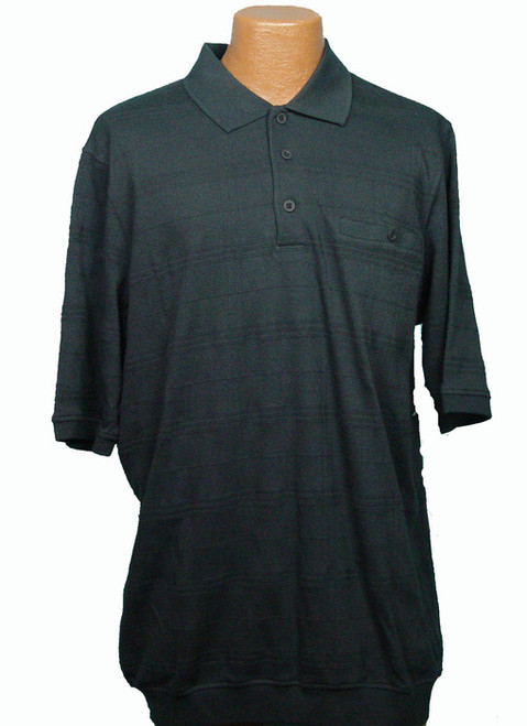 King Size Black Banded Bottom Short-Sleeve Shirt XL