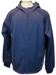 Adidas Full Zip Knit Hooded Sweatshirt