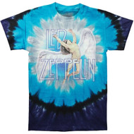 Liquid Blue Led Zepplin Swan Song Tie Dye Tee LT, XL, 2X, 3X, 4X, 5X, 6X, 7X, 8X