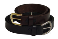 Marc Wolf 202 Leather Belt, Black or Brown, Sizes 34-78