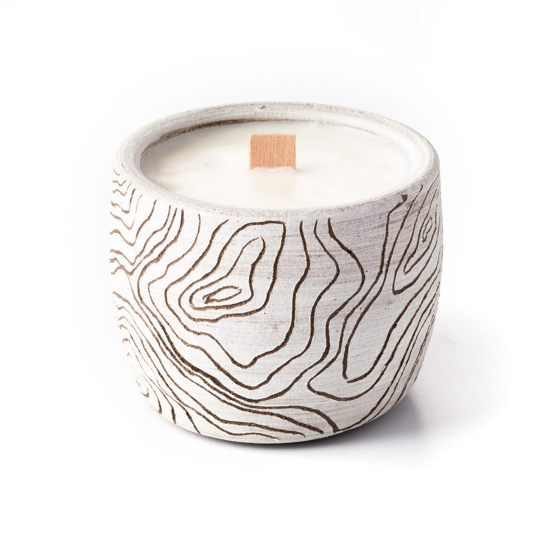 White Topography Candle