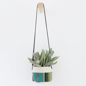 Hanging Canvas Planter Striped