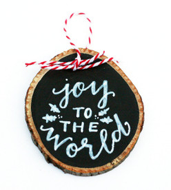 Joy to the World Chalkboard Ornament