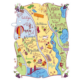 Napa Valley Tea Towel