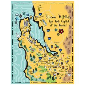 Silicon Valley Tea Towel