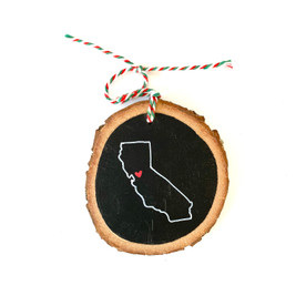 California State Heart Ornament