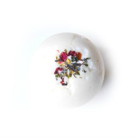 Flower petal bath bomb