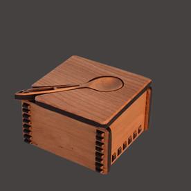 Wood Salt Cellar with Lid