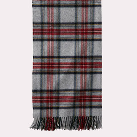 Plaid 5th Avenue Throw - Grey Stewart