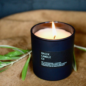 No. 3 Teakwood + Leather Candle