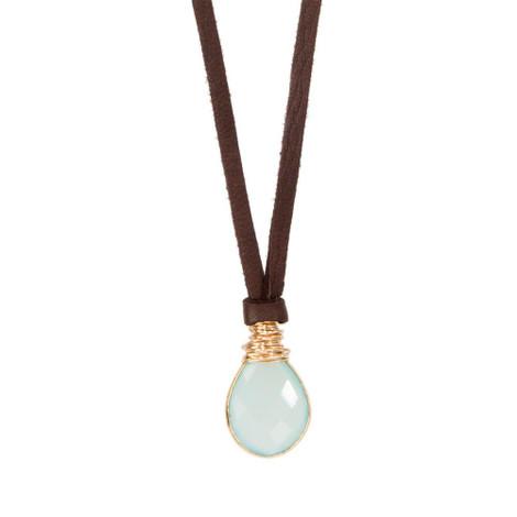 Chalcedony Pendant Necklace