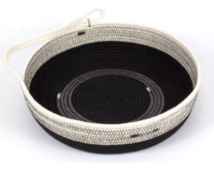 Large One-handled Black Table Basket