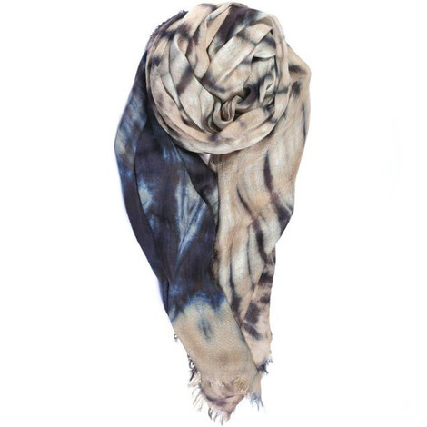 blue and tan scarf