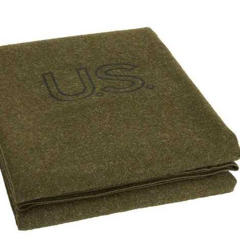 Army green wool blanket