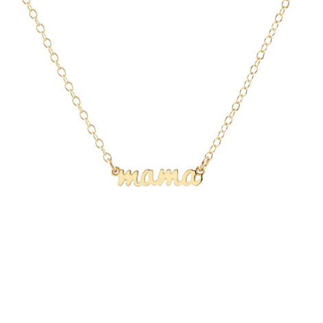 Necklace for Mom 14k Gold