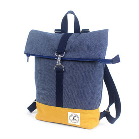 Mini Backpack: Denim Stitch