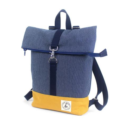 Mini Backpack: Denim Stitch