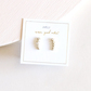 White crystal climber earrings