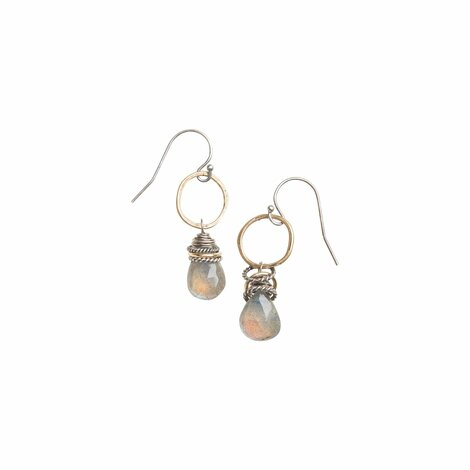 Small Labradorite Earrings