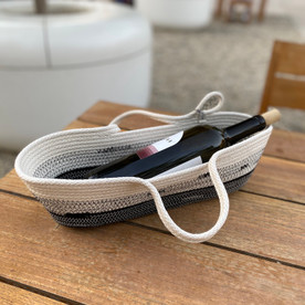 Woven Cotton Wine Carrier