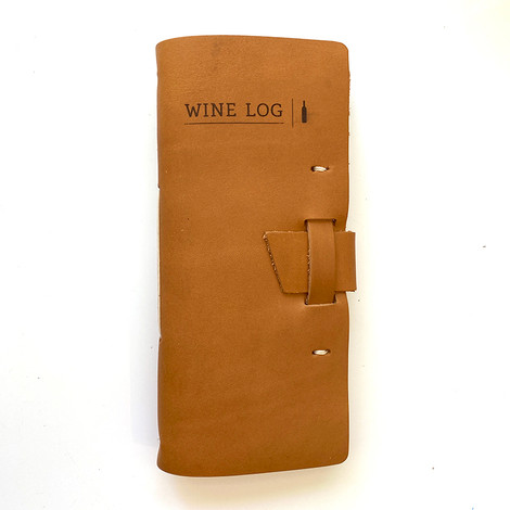 leather wine journal